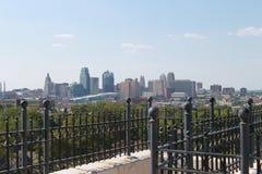 Horizon de van de binnenstad van Kansas City Missouri royalty-vrije stock foto's