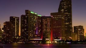 Horizon de van de binnenstad van Miami, Florida, de V stock footage