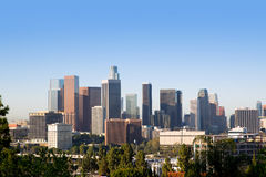 Horizon de van de binnenstad Californië van La Los Angeles royalty-vrije stock foto's