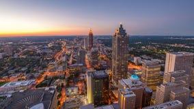 Horizon de van de binnenstad van Atlanta, Georgië, de V.S. stock footage