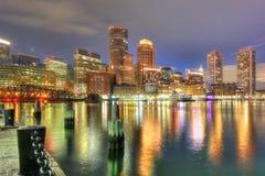 Horizon de van de binnenstad van Boston, Massachusetts, de V.S. stock afbeeldingen