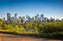 Horizon de van de binnenstad van Calgary Royalty-vrije Stock Afbeeldingen