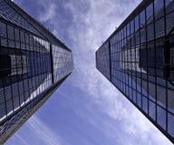 Horizon de van de binnenstad van Denver Stock Foto