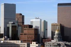 Horizon de van de binnenstad van Denver Royalty-vrije Stock Afbeeldingen