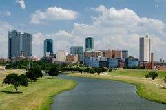 Horizon de van de binnenstad van Fort Worth Stock Foto