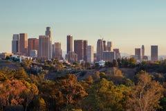 Horizon de van de binnenstad van Los Angeles royalty-vrije stock foto's