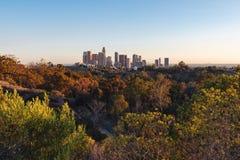 Horizon de van de binnenstad van Los Angeles, 2015 royalty-vrije stock afbeelding