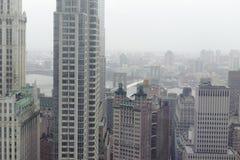 Horizon de van de binnenstad van Manhattan Stock Afbeeldingen