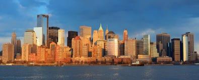 Horizon de van de binnenstad van Manhattan Royalty-vrije Stock Foto