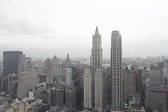 Horizon de van de binnenstad van Manhattan Stock Afbeelding