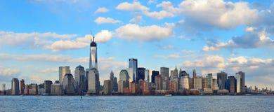 Horizon de van de binnenstad van Manhattan Stock Foto's