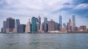 Horizon de van de binnenstad van Manhattan van de Stad van New York Royalty-vrije Stock Foto