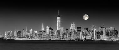 Horizon de van de binnenstad van Manhattan van de Stad van New York Royalty-vrije Stock Fotografie