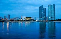 Horizon de van de binnenstad van Miami Stock Afbeelding