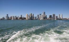 Horizon de van de binnenstad van Miami Royalty-vrije Stock Afbeeldingen
