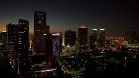 Horizon de van de binnenstad van Miami, Florida, de V stock videobeelden