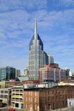 Horizon de van de binnenstad van Nashville, Tennessee Stock Fotografie
