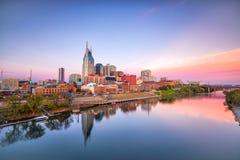 Horizon de van de binnenstad van Nashville, Tennessee Stock Afbeelding