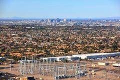 Horizon de van de binnenstad van Phoenix Royalty-vrije Stock Foto's