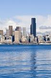 Horizon de van de binnenstad van Seattle   Stock Afbeelding