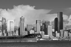 Horizon de van de binnenstad van Seattle Royalty-vrije Stock Foto's