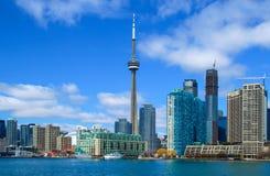 Horizon de van de binnenstad van Toronto royalty-vrije stock afbeelding