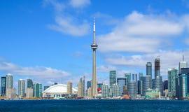 Horizon de van de binnenstad van Toronto stock afbeeldingen