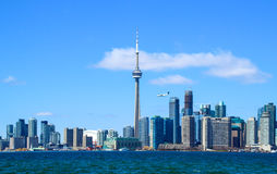 Horizon de van de binnenstad van Toronto stock foto's