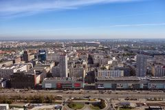 Horizon de Varsovie Pologne Image stock