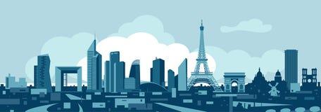 Horizon de vecteur de Frances de Paris illustration de vecteur