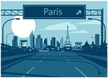 Horizon de vecteur de Frances de Paris illustration stock