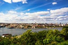Horizon de vieille La Havane et de La Havane du centre images stock