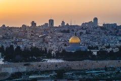 Horizon de vieille ville de Jérusalem, Israël photos libres de droits