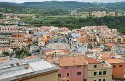 Horizon de village de castelsardo Image stock