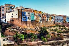 Horizon de Villajoyosa Blanca de côte, Espagne Photographie stock libre de droits