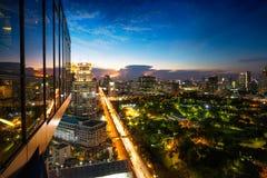 Horizon de ville de Bangkok Photos stock