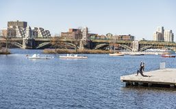 Horizon de ville de Boston Image stock