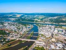 Horizon de ville de Coblence en Allemagne images stock