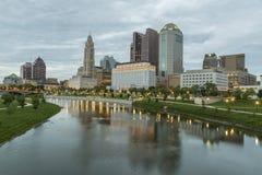 Horizon de ville de Columbus Ohio image stock