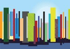 Horizon de ville - couleurs de multiple d'illustration Images stock