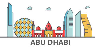 Horizon de ville d'Abu Dhabi illustration libre de droits