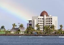 Horizon de ville d'Apia Photos stock