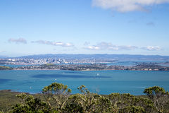 Horizon de ville d'Auckland Photo stock