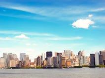 Horizon de ville de Boston Image libre de droits