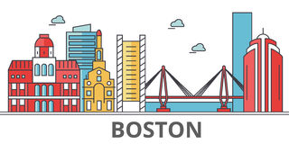 Horizon de ville de Boston illustration libre de droits