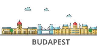 Horizon de ville de Budapest illustration libre de droits