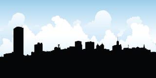 Horizon de ville de Buffalo Images libres de droits