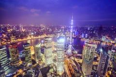 Horizon de ville de Changhaï, Chine Photographie stock libre de droits