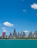 Horizon de ville de Chicago photo stock