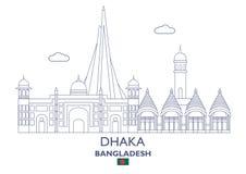 Horizon de ville de Dhaka, Bangladesh Photos stock